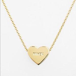 Kate Spade Taken Single Heart Charm Necklace
